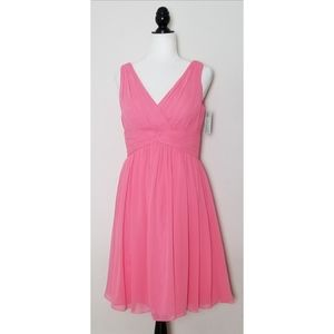 Bill Levkoff Pink Chiffon Dress Size 10